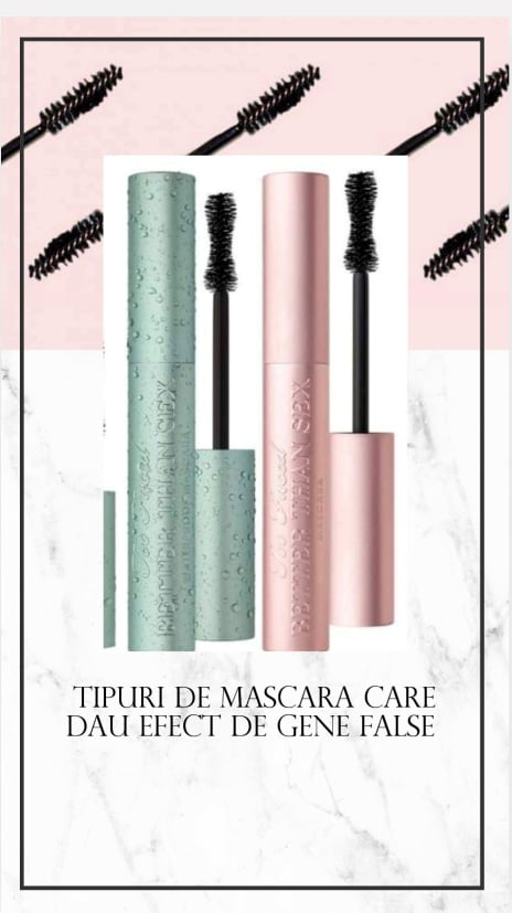 tipuri de mascara care dau efect de gene false